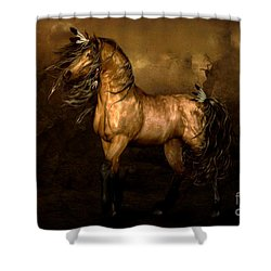Shikoba Choctaw Horse Shower Curtain by Shanina Conway