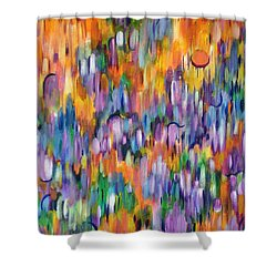 Shower Curtain featuring the painting Shimmer by Lynda Lehmann