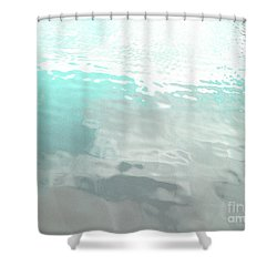 Let The Water Wash Over You. Shower Curtain