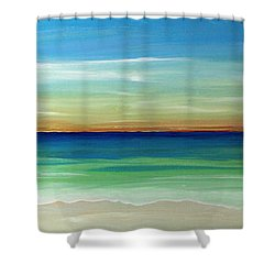 Shimmering Sunset Shower Curtain