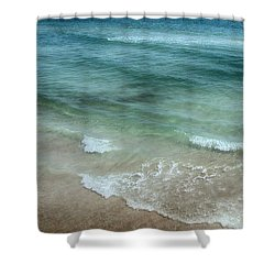 Shimmering Tide Shower Curtain by Judy Hall-Folde