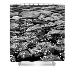 Shimmering Waters In Spring Shower Curtain