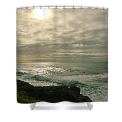 Shimmery  Light Shower Curtain by Sheila Ping