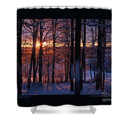 Shimmery Sunrise Shower Curtain