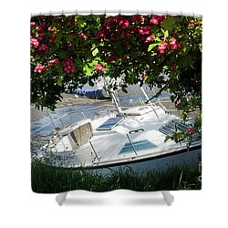 Shindilla Framed With Flowers Shower Curtain