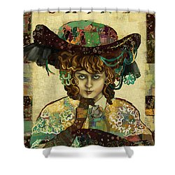 Shine - Norma Whalley Shower Curtain by Carrie Joy Byrnes