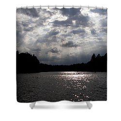 Shine On Shower Curtain by Angie Rea