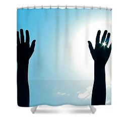 Shine On Shower Curtain by DAKRI Sinclair