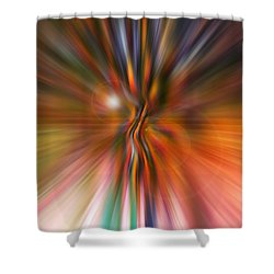 Shine On Shower Curtain by Linda Sannuti