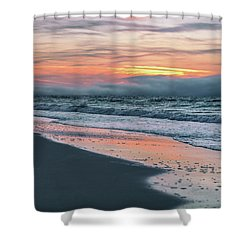 Shower Curtain featuring the photograph Shine On Me Beach Sunrise  by John McGraw