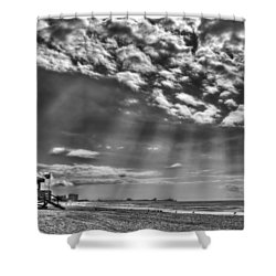 Shine On You Crazy Diamond Shower Curtain by Evelina Kremsdorf