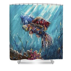 Shine Trough The Ocean Shower Curtain