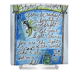 Glow Shower Curtain by Elizabeth Robinette Tyndall