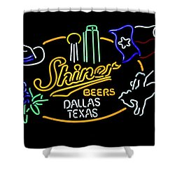 Shiner Beers Dallas Texas Shower Curtain