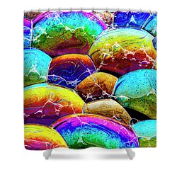Shower Curtain featuring the photograph Shiney Bubbles by Jean Noren