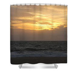 Shower Curtain featuring the photograph Shining Clouds by Robert Banach