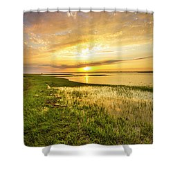 Shinnecock Bay Wetland Sunset Shower Curtain
