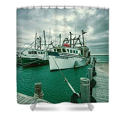 Shinnecock Fishing Vessels Shower Curtain