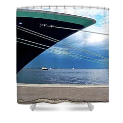 Ship At Anchor In Rio Shower Curtain