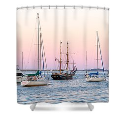 Ship Out Of Time Shower Curtain