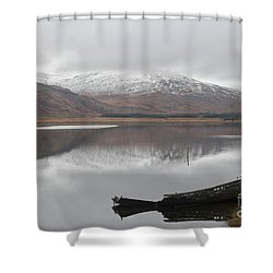 Ship Reck On Isle Of Mull Shower Curtain