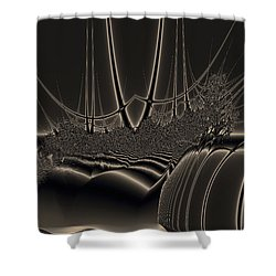 Ship Wreck Abstract Shower Curtain