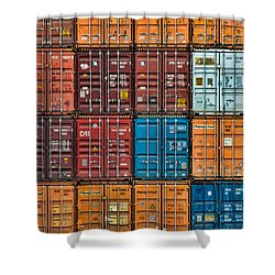 Shipping Containers Shower Curtain