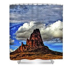Shower Curtain featuring the photograph Shiprock Panorama by Scott Mahon