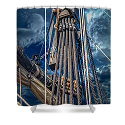 Ships Mast Shower Curtain