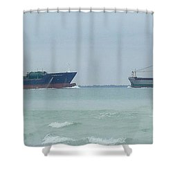 Ships Meet Shower Curtain