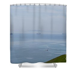 Ships Of Durdle Dor Shower Curtain