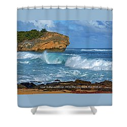 Shipwreck Beach Shorebreaks 2 Shower Curtain