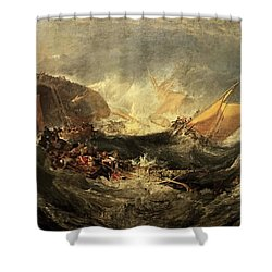 Shipwreck Of The Minotaur Shower Curtain