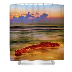 Shipwreck On The Outer Banks The End Ap Shower Curtain