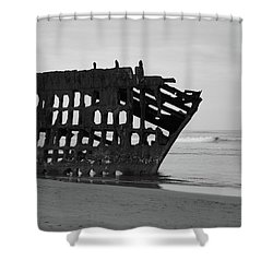 Shipwreck On The Shore Shower Curtain