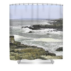 Shower Curtain featuring the digital art Shipwrecked by Sharon Batdorf