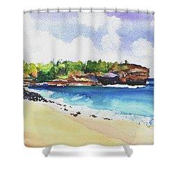 Shipwreck's Beach 2 Shower Curtain