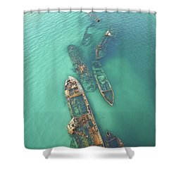 Shipwrecks Shower Curtain