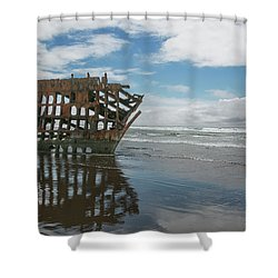 Shower Curtain featuring the photograph Shipwreck by Elvira Butler