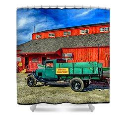 Shipyard Work Truck Shower Curtain