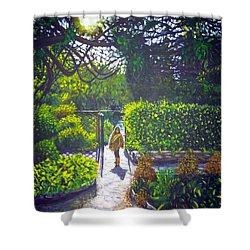Shirley At Chalice Well Shower Curtain