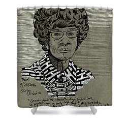 Shirley Chisholm Shower Curtain