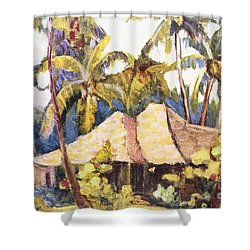 Shirley Russell Art Shower Curtain by Hawaiian Legacy Archive - Printscapes