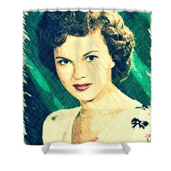 Shirley Temple By John Springfield Shower Curtain