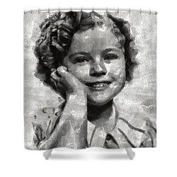 Shirley Temple By Mary Bassett Shower Curtain