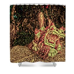 Shishi Dog Shower Curtain