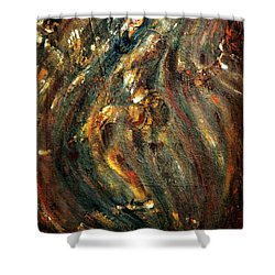 Shower Curtain featuring the painting Shiva Eternal Dance by Harsh Malik