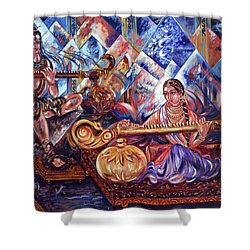 Shiva Parvati Shower Curtain