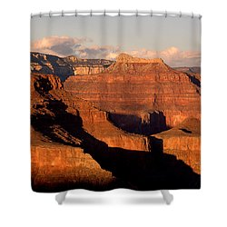 Shiva Temple  At Sunset Grand Canyon National Park Shower Curtain