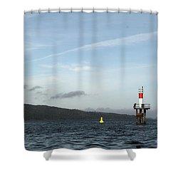 Shoal Marker Shower Curtain